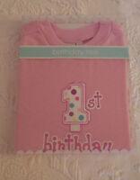 Elegant Baby 1st Birthday T Shirt Pink Girl 18 Months