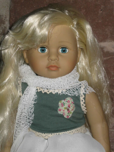 2648 capelli biondi PIANTANA BAMBOLA BAMBOLA Hannah 46cm morbido corpo NUOVO