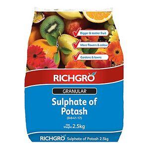Image Is Loading 2 5kg Richgro Granular Sulp Of Potash High