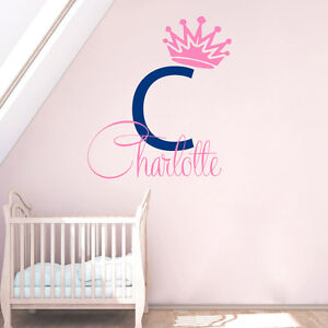 Image Is Loading Baby Name Wall Decal Vinyl Sticker Princess