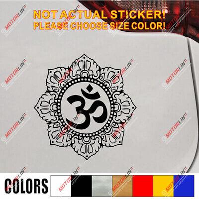 Om Symbol Buddha Lotus Decal Sticker Yoga Hindu Hinduism Buddhism Aum Car Vinyl
