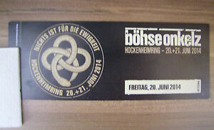 Boehse-Onkelz-Boehse-Onkelz-Hockenheim-Eintrittskarte-Sammlerticket-2014-Ticket