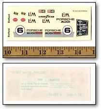Vintage 1/32 Cox Eldon PORSCHE AUDI L&M #6 Slot Car WATER SLIDE DECAL #31313