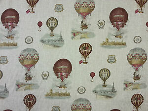 Stof montgolfiere linen hot air balloon curtain furnishing for Tessuti francesi arredamento
