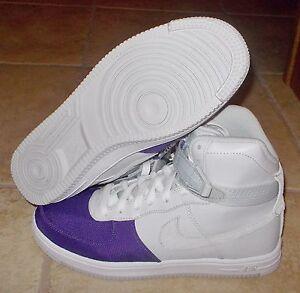 b8ea5de31ddb6 NEW NIKE AIR FEATHER HI HIGH Womens 6.5 Gray Purple force 1 LTD NR ...