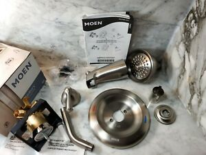 MOEN Banbury Single-Lever Tub and Shower Faucet Brushed Nickel NEW READ