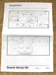 b amp s wiring diagram bang   olufsen beocenter 4000  type 1603 wiring diagrams leaflet  bang   olufsen beocenter 4000  type