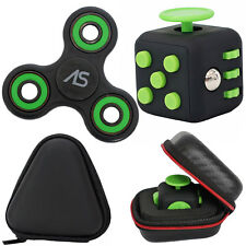 Fidget Spinner + Fidget Cube Desk Toy + Case Best Stress Reducer Set Brand New