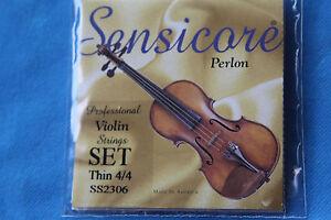 Super Sensitive Sensicore Perlon 4/4 Violin Strings, Thin, MPN SS2306