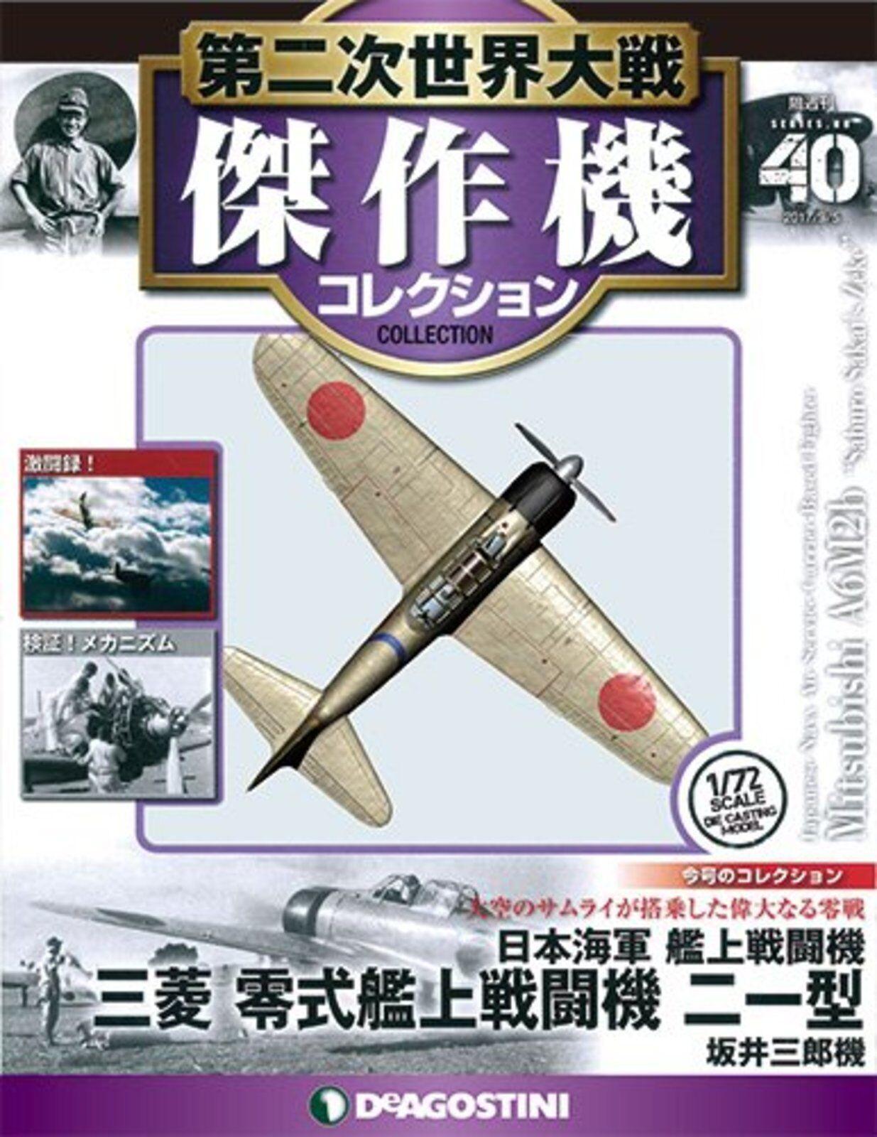 DeAgostini WW 2 Aircraft 1 72 40 MITSUBISHI A6m2b Saburo Sakai's Zeke