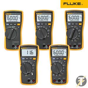 Fluke-113-114-115-116-117-wahr-RMS-Digital-HVAC-Multimeter-mit-Kabel