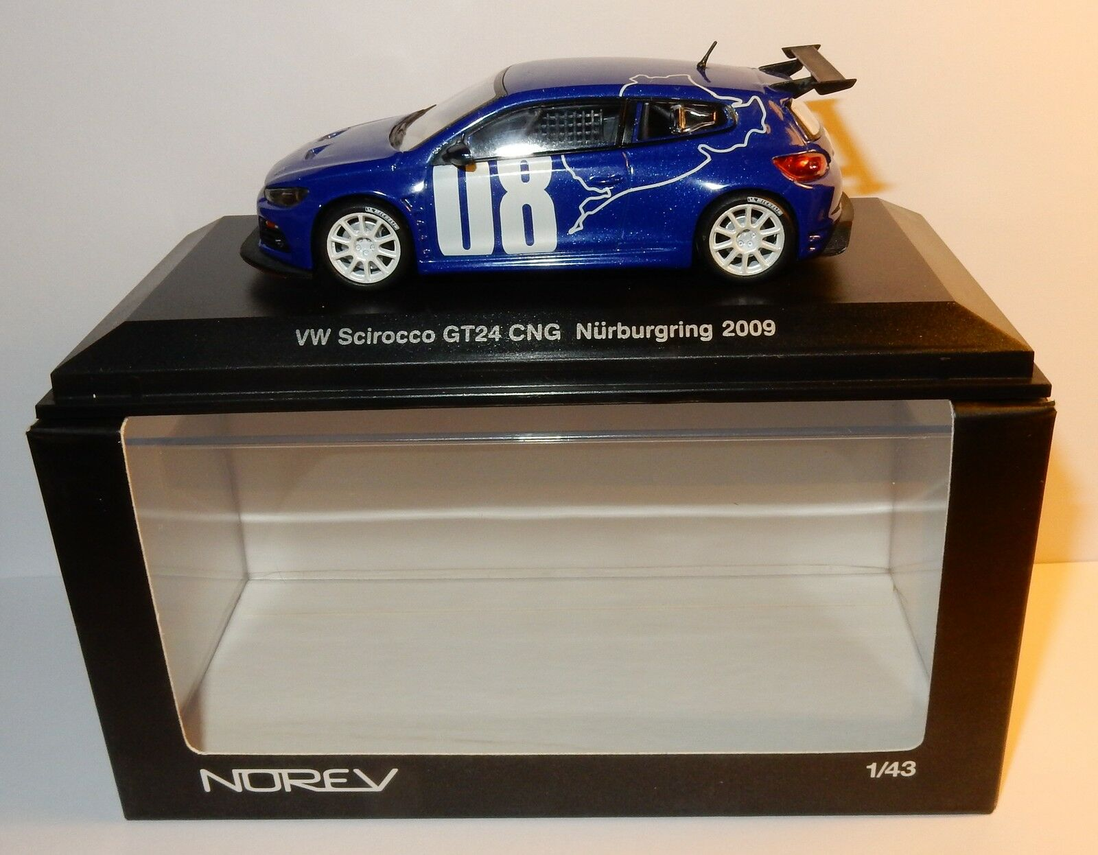 NOREV VW VOLKSWAGEN SCIROCCO 08 GT 24TH CNG NURBURGRING 2009 1 43 BOX REF 840193