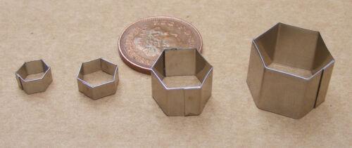 Cortadores de metal hexagonal Pastel Arcilla tumdee Casa De Muñecas Miniatura Accesorios