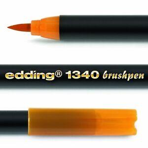 10-x-Edding-1340-Artists-Brush-Felt-Tip-Pen-with-Flexible-brush-Style-tip