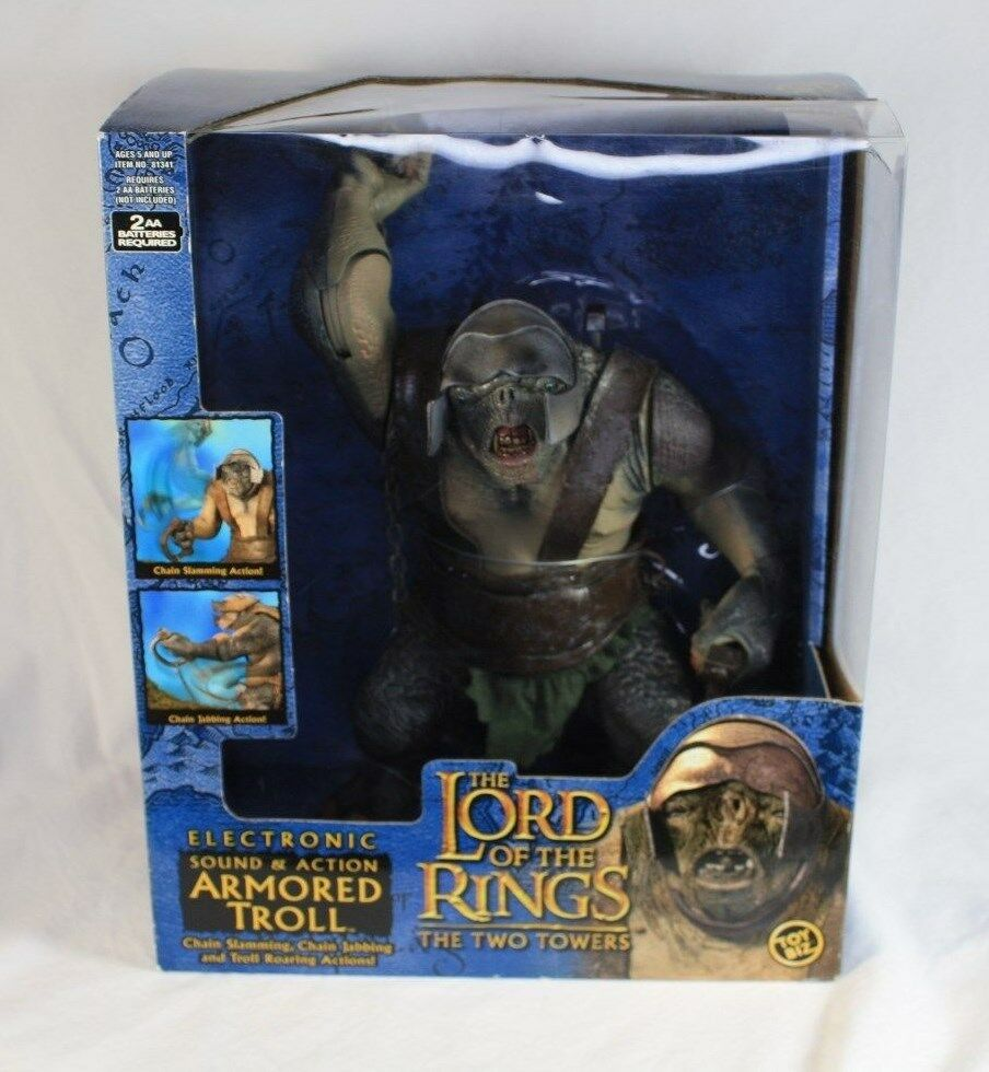 Lord of the Rings LOTR Two Towers Armorosso Troll Electronic Sounds Nuovo In Box 10
