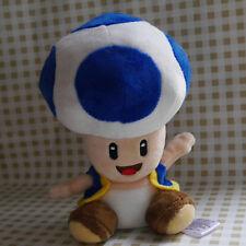 "NEW SUPER MARIO BROS. 6"" Blue Toad Kinopio Stuffed Doll plush toy"