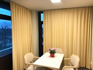 vorhang thermogardine blackout gardine 100 lichtdicht verdunkelung kr uselband ebay. Black Bedroom Furniture Sets. Home Design Ideas