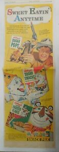 Kellogg's Cereal Ad: Wild Bill Hickok Andy Devine from 1957 Size: 7 x 22 inches