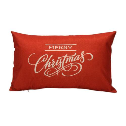 Rectangle Car Throw Pillow Case Sofa Waist Cushion Cover Christmas Decor Gift L