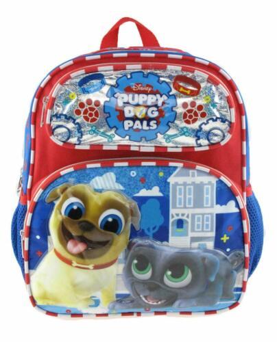 New Disney/'s Puppy Dog Pals 12/'/' Toddler Size Book Backpack Side Pocket Licensed