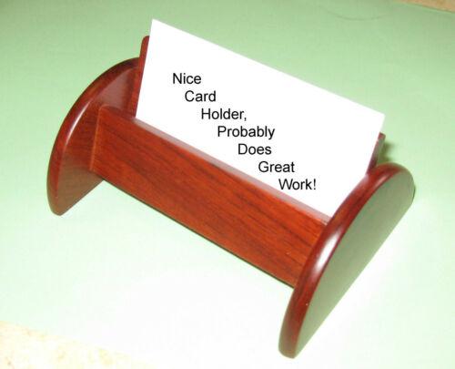 BEAUTIFUL WOOD GRAIN $ REDUCED WOOD ARTIST HAND MADE BUSINESS CARD HOLDERS
