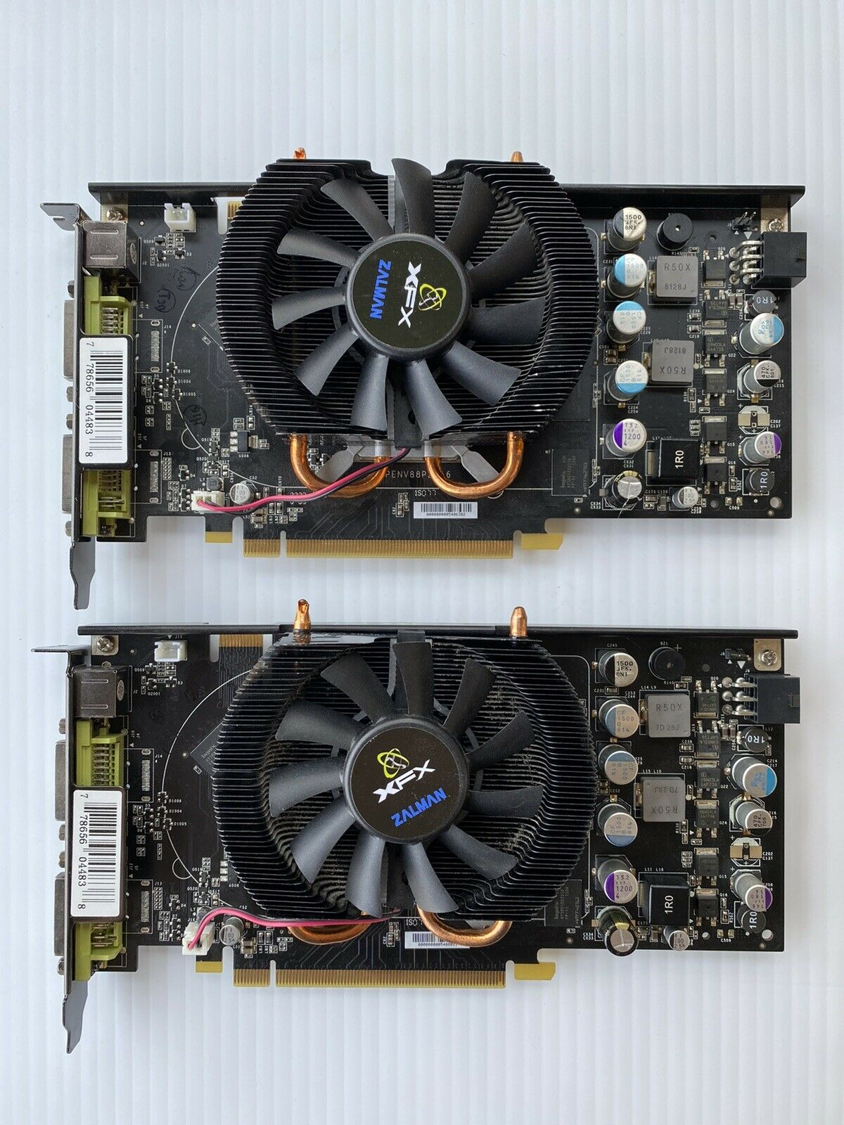 (Lot of 2) XFX GeForce 8800 GT (PCI-e, 512MB, DDR3) Graphics Cards