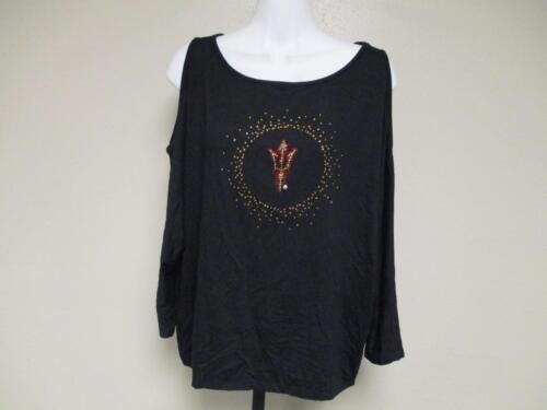 NEW Arizona State Sun Devils Womens Designer M-L-XL Sleeveless Shirt Meesh /& Mia