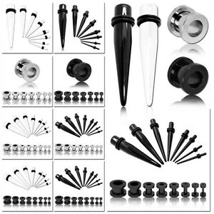 Image Is Loading Set Ear Stretching Flesh Tunnel Taper Expander Earring