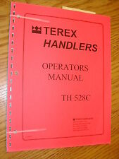 Terex Th528c Operator Manual Telescopic Handler Rough Terrain Forklift Maint