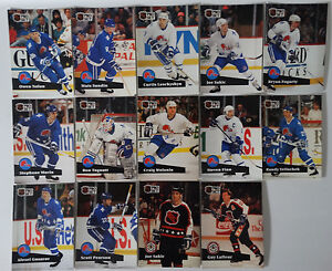 1991-92-Pro-Set-Series-1-Quebec-Nordiques-Team-Set-of-14-Hockey-Cards