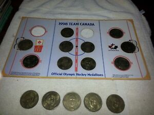 McDonalds-1998-Team-Canada-Official-Olympic-Hockey-Medallions-amp-Display-Holder