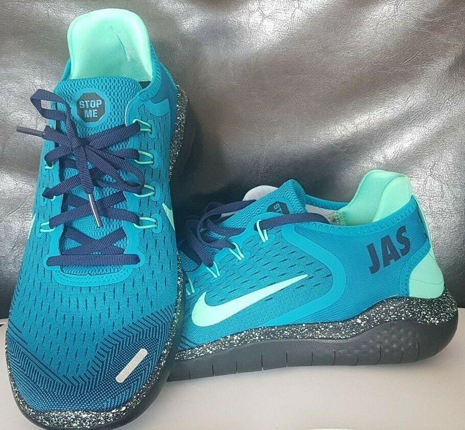 Nike Men Run 2 ID Charcoal blue pink Sz 10.5 605419 993 for