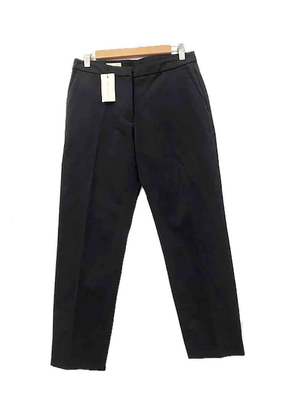Designer BNWT Dries Van Noten Size 36 8 AU Navy bluee Cotton Women's Pants