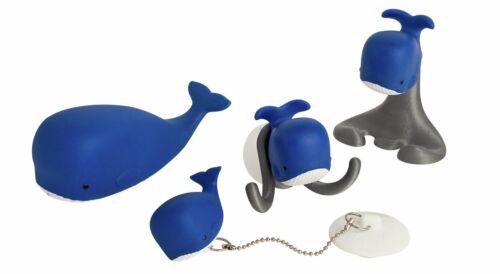 Whale Kids Bathtime Fun Pack Tub plug Towel hanger Toothbrush Holder Squirt