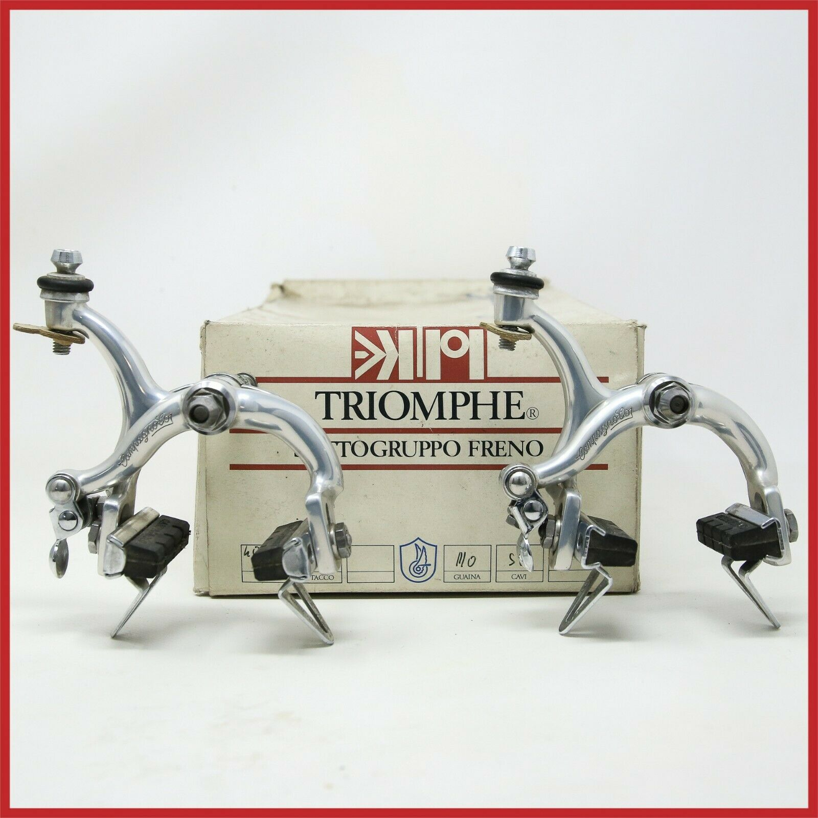 NOS CAMPAGNOLO TRIOMPHE BRAKE CALIPERS 80s VINTAGE ROAD BIKE BRAKES SIDE PULL