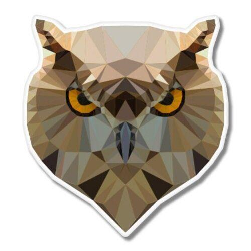 Owl Triangles Modern Car Laptop Phone Vinyl Sticker SELECT SIZE