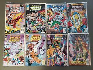 JUSTICE-LEAGUE-EUROPE-1989-LOT-8-BOOKS-45-46-48-49-50-53-56-57-DC-Comics-VF-NM