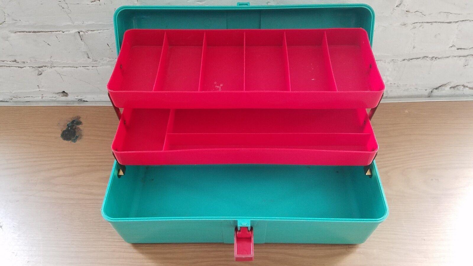 verde Azulado &  rojo mi amigo Nº 852 Caja De Pesca  mejor calidad
