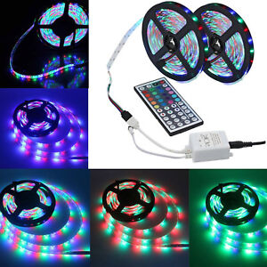 10M-3528-SMD-RGB-Flexible-LED-luz-tira-600-Led-Control-Remoto-Infrarrojo-44-teclas-controlador