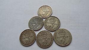 George V silver 3d coins - Craigavon, United Kingdom - George V silver 3d coins - Craigavon, United Kingdom