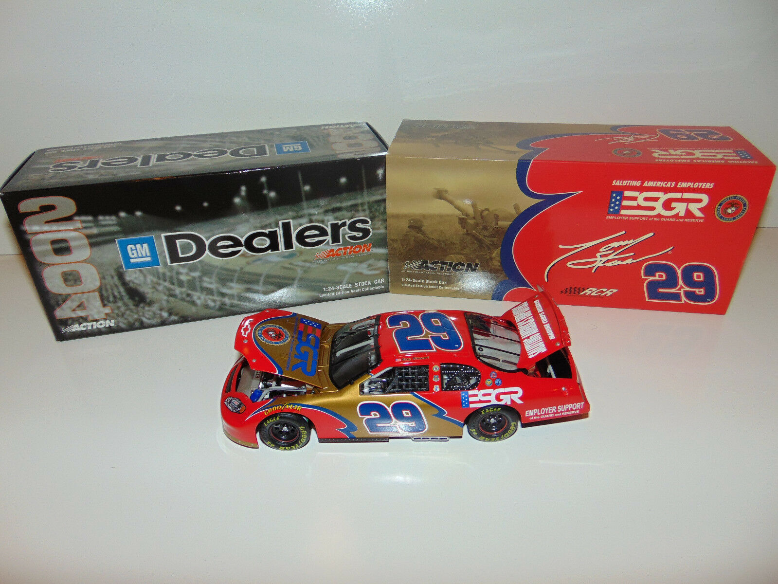 TONY STEWART 2004 ESGR MARINES 1 372 DEALERS CHEVY MONTE CARLO RACING NASCAR
