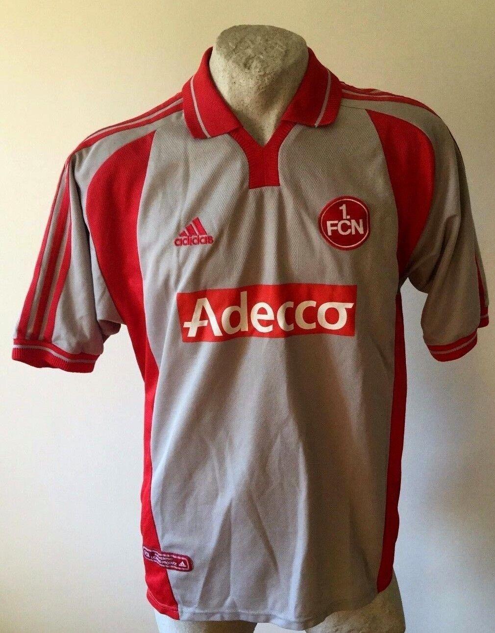Maglia calcio fc nurnberg adidas adecco 2001 away football shirt trikot size
