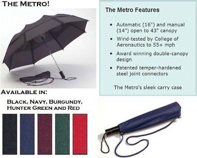 Gustbuster METRO Windproof UMBRELLA Storm Vented Strongest Smartest