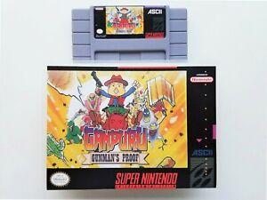 Ganpuru-Gunman-039-s-Proof-Case-Game-SNES-Super-Nintendo-English-USA-Seller