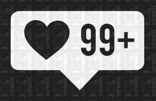 99 Social Media Tag Lowered Slammed Import JDM Decal Sticker