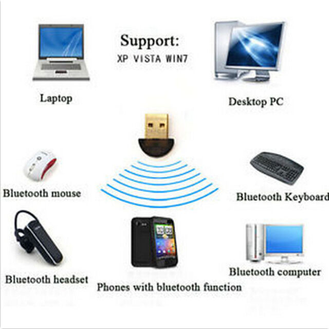 USB 2.0 Blueteeth Connector Dongle CSR4.0 Adapter for PC LAPTOP WIN 7 8 10 XP