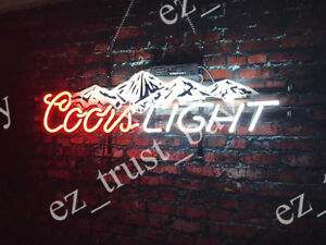 Rare new coors light mountain beer neon sign 24x16 ebay image is loading rare new coors light mountain beer neon sign aloadofball Images