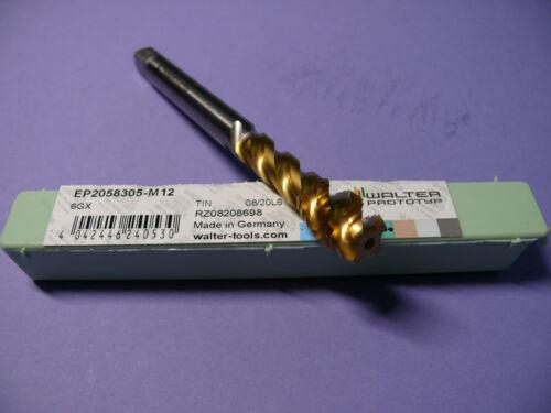 1 Stück Walter paradur Maschinengewindebohrer EP2058305 M12 6GX TIN HSS-EPM NEU