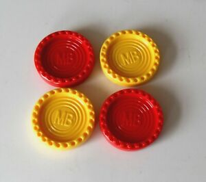 MB Connect 4 Game Pieces Spares//Replacements Only 4 Red /& 4 Yellow Counters