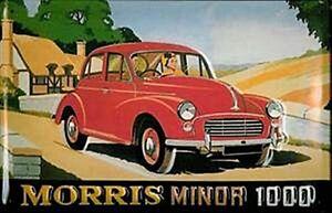 Morris-Minor-1000-Goffrato-Acciaio-Muro-Firmare-Hi-3020